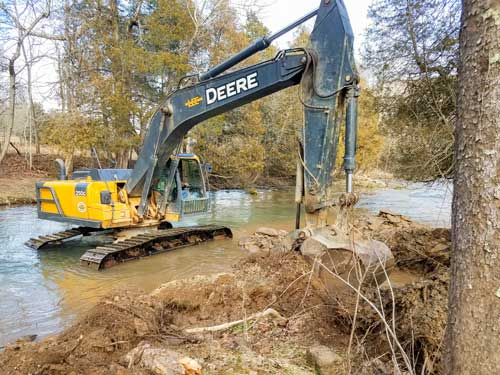 GSC Naturalist Assists with Creek Rehabilitation Project