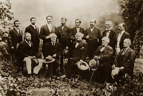 Gen R.E. Lee & fomer Confederate generals 1869