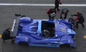 Jims car at pit stop